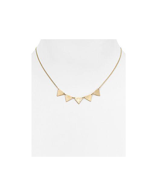 "Phyllis + Rosie | Metallic Phyllis + Rosie Mini Spike Necklace, 16"" | Lyst"