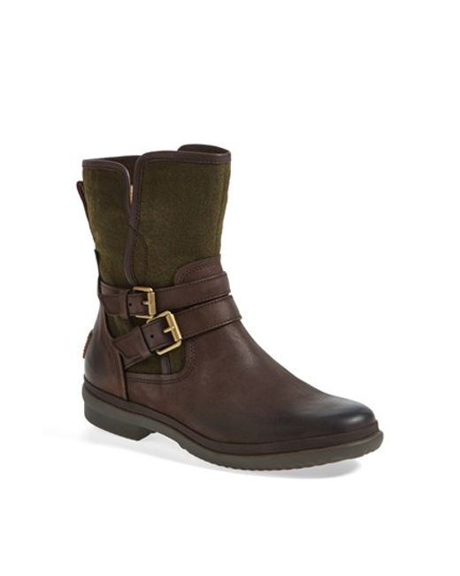 Ugg   Brown Ugg 'simmens' Waterproof Leather Boot   Lyst