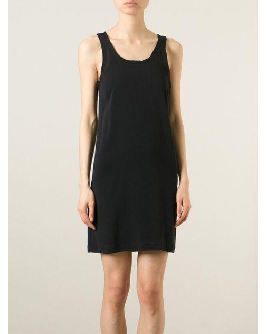 Ann Demeulemeester | Black Short Tank Dress | Lyst
