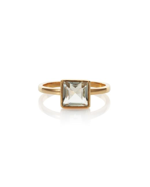 Caroline Creba | 18ct Gold Plated Sterling Silver 2ct Green Amethy | Lyst
