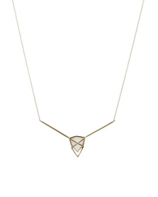 Monique Péan | Diamond, Thomsonite & White-Gold Necklace | Lyst
