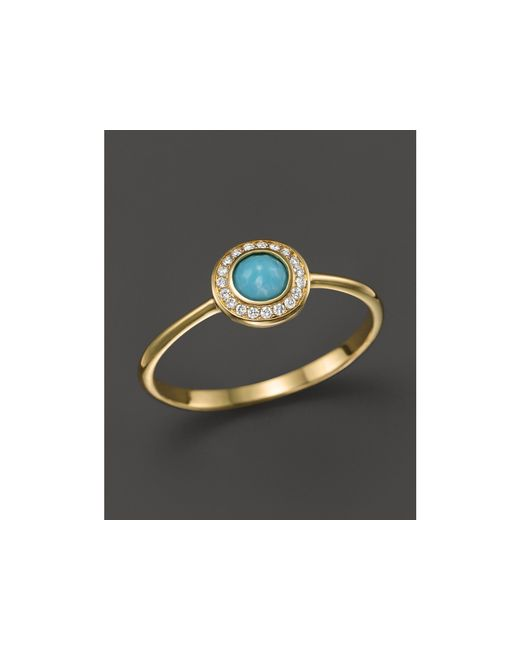 Ippolita | Blue 18k Lollipop® Mini Ring In Turquoise With Diamonds | Lyst