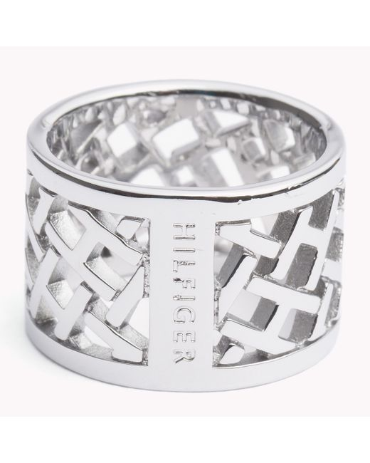 Tommy Hilfiger | Metallic Lattice Ring | Lyst