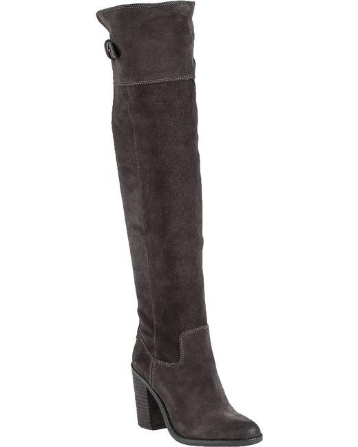 dolce vita okana suede knee high boots in black grey5