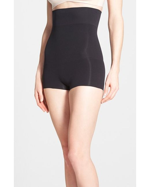Spanx | Black Haute High-Waisted Shaping Shorts | Lyst