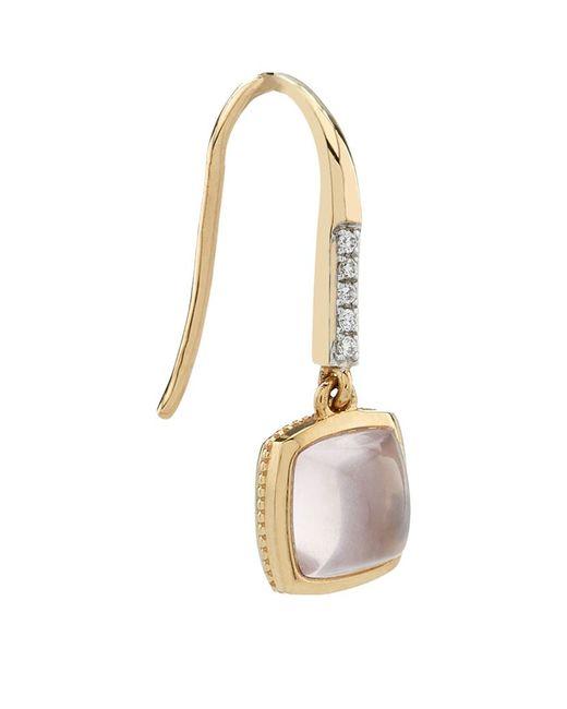 Links of London   Metallic Luna Gems Rose Quartz Drop Earrings   Lyst