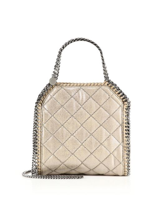 Stella McCartney | Falabella Quilted Metallic Mini Tote | Lyst