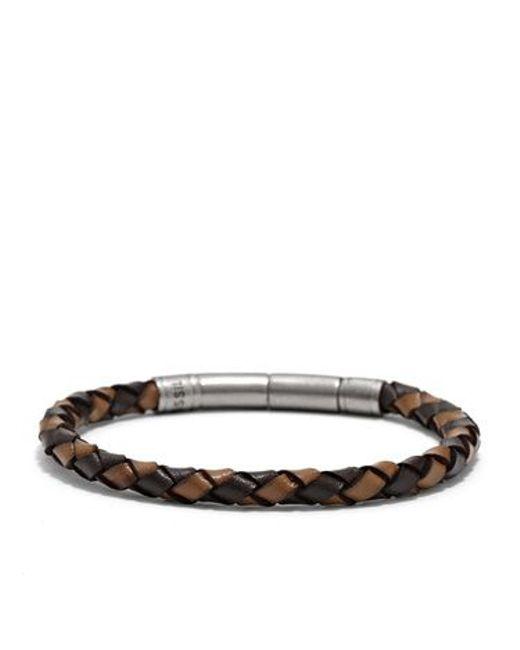 Fossil | Brown Jf00509797 Mens Bracelet for Men | Lyst