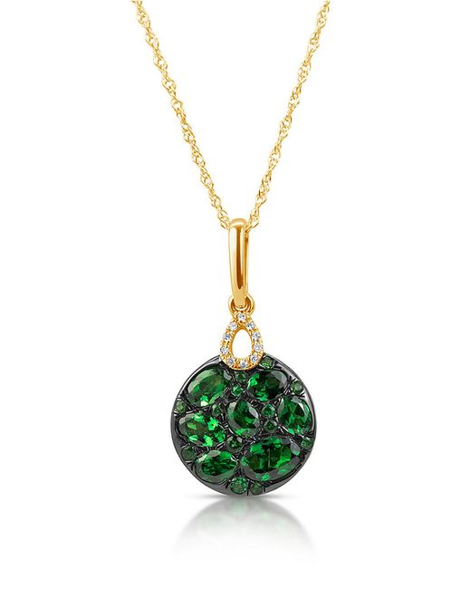 Marco Moore | Green Tsavorite, Diamond And 14k Yellow Gold Pendant Necklace | Lyst