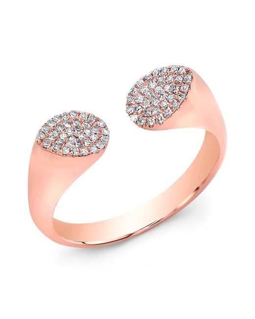 Anne Sisteron | Metallic 14kt Rose Gold Diamond Open Double Pear Ring | Lyst
