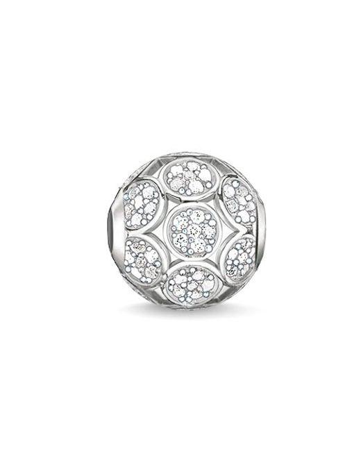 Thomas Sabo | White Karma Beads Sparkling Circles Bead | Lyst