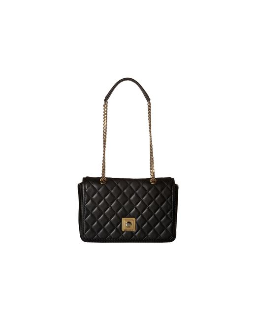 Love Moschino | Black Printed Saffiano Leather Shoulder Bag | Lyst