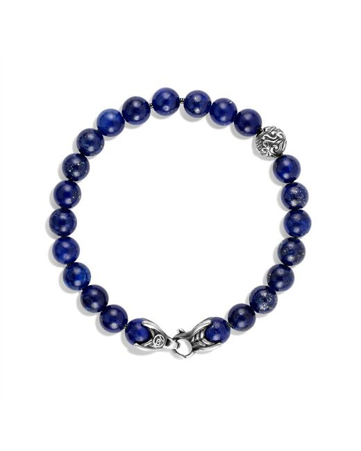 David Yurman | Blue Spiritual Beads Bracelet with Lapis Lazuli for Men | Lyst