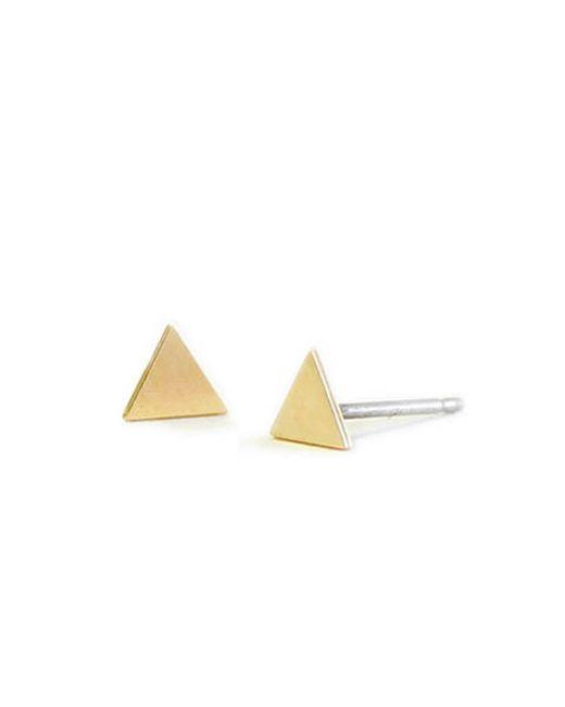 Kris Nations | Metallic Triangle Stud Earrings | Lyst