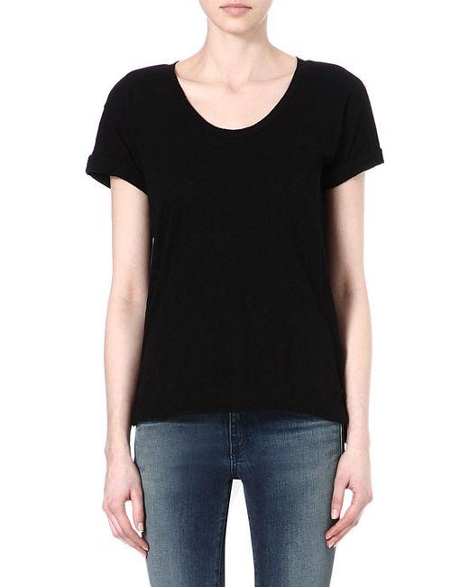Rag & Bone   Black The Pocket Jersey T-shirt   Lyst