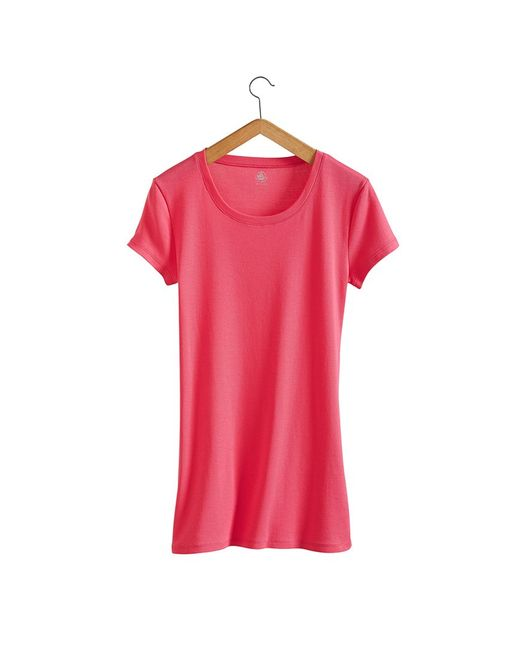 Petit Bateau   Pink Women's Round Neck Tee In New Cotton   Lyst