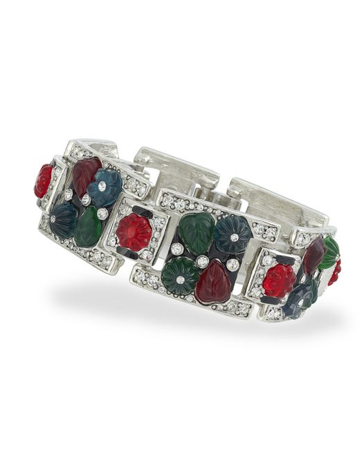Kenneth Jay Lane | Metallic Tutti Frutti Art Deco Bracelet | Lyst
