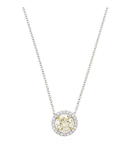 Carat* | Metallic 1.25ct Yellow Round Border Necklace | Lyst