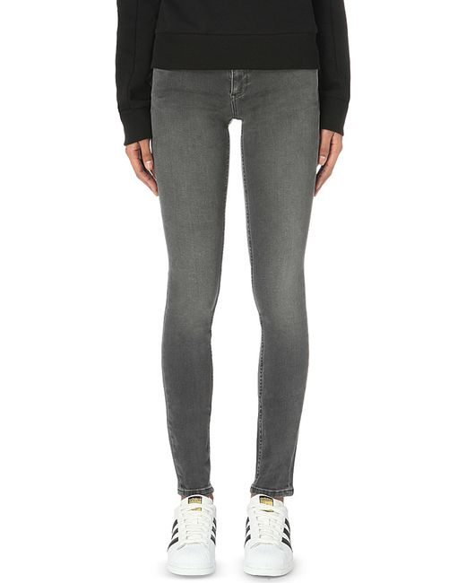 Calvin Klein | Gray Skinny Mid-rise Jeans | Lyst