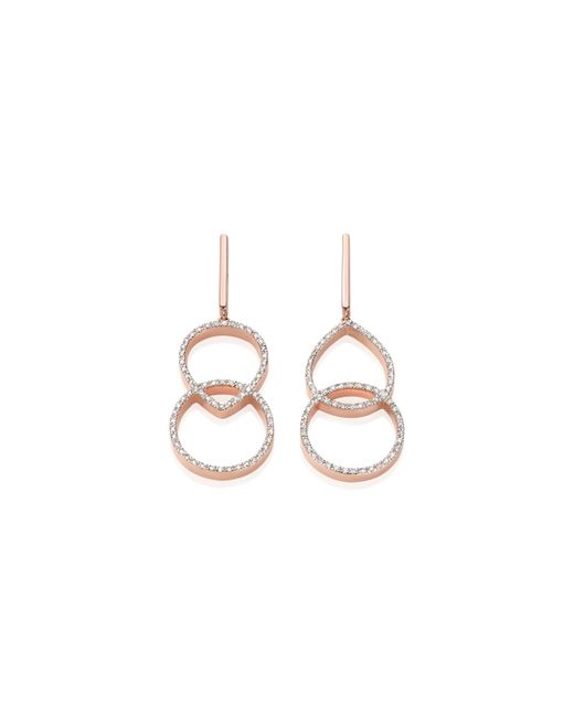 Monica Vinader | Pink Naida Kiss Open Cocktail Earrings | Lyst