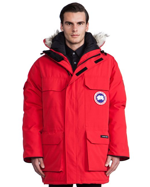 Canada Goose Expedition Coyote Fur Trim Parka In Red For