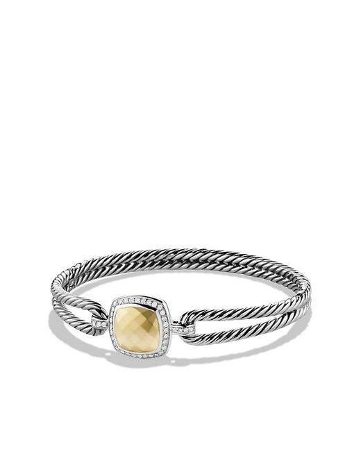 David Yurman | Metallic Albion Bracelet With Diamonds And 18k Gold | Lyst