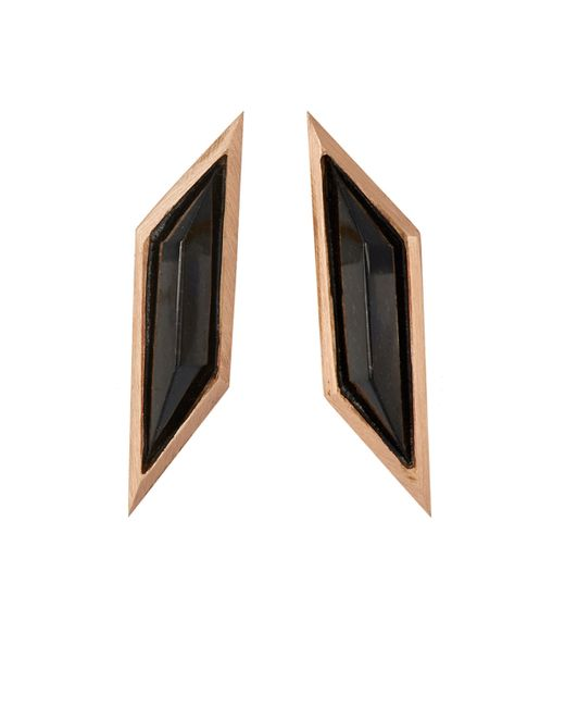 Monique Péan | Black Rhomboid Studs | Lyst