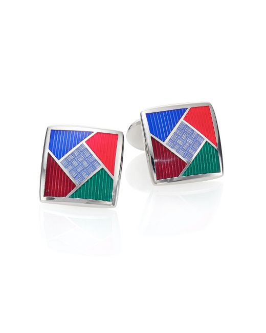 David Donahue   Multicolored Sterling Silver Cuff Links   Lyst