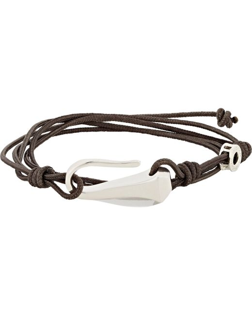 Zadeh | Brown Cord Wrap Bracelet for Men | Lyst
