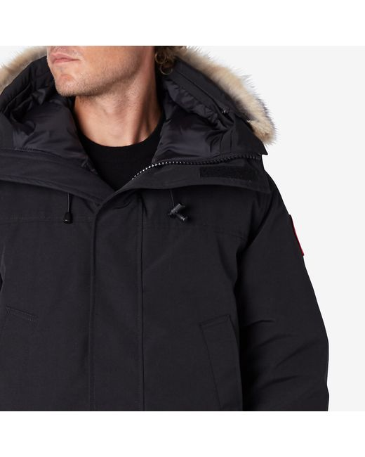 Canada Goose hats online cheap - Canada goose Black Down & Fur Langford Parka in Black for Men | Lyst