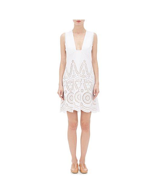 Stella McCartney   White Aline Eyelet Dress   Lyst