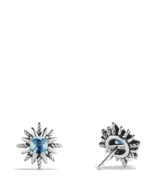 David Yurman | Starburst Drop Earrings With Hampton Blue Topaz And Diamonds | Lyst