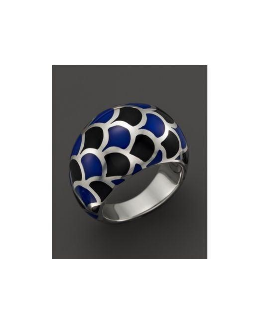 John Hardy   Metallic Naga Sterling Silver Enamel Dome Ring With Black And Blue Enamel   Lyst