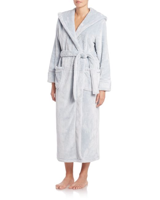 Saks Fifth Avenue | Green Hooded Plush Robe | Lyst