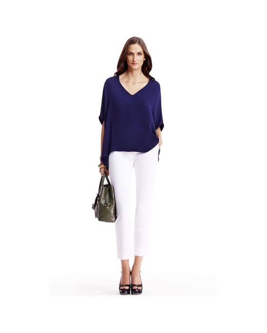Diane von Furstenberg | White Dvf Genesis Cropped Trousers | Lyst