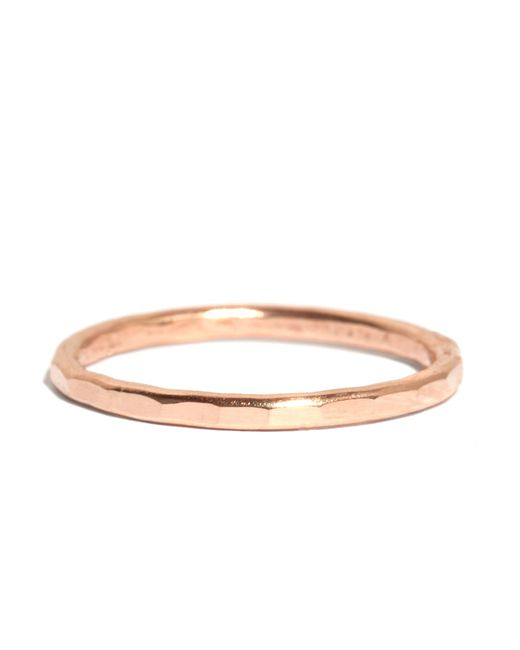 Melissa Joy Manning | Pink Hammered Texture 1.5mm Ring | Lyst
