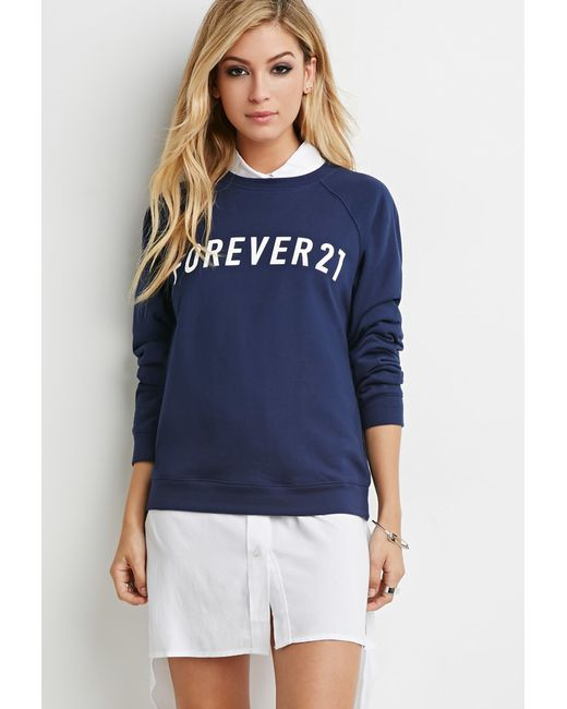 Forever 21 | Blue Graphic Sweatshirt | Lyst