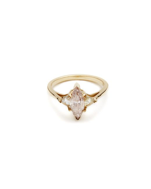 Anna Sheffield | Metallic Pink Marquis Bea Ring | Lyst