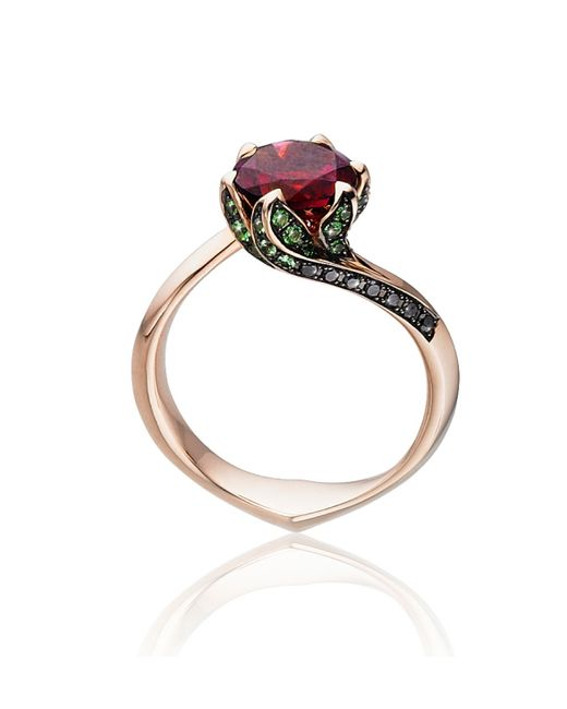 Tomasz Donocik   Multicolor Rose Gold Lilly Pad Ring   Lyst