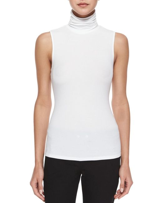 Theory | White Wendel Sleeveless Sweater | Lyst