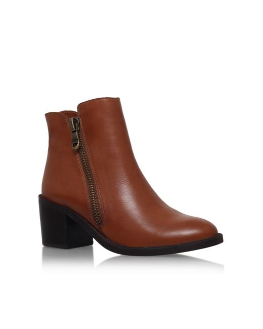 Carvela Kurt Geiger | Brown Skim Leather Ankle Boots | Lyst