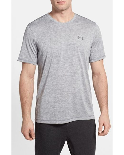Under Armour | Gray 'ua Tech' Loose Fit Short Sleeve V-neck T-shirt for Men | Lyst