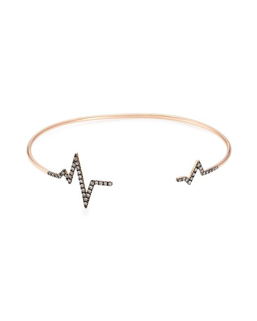 Diane Kordas | Pink Heartbeat 18kt Rose Gold Bracelet With White Diamonds | Lyst