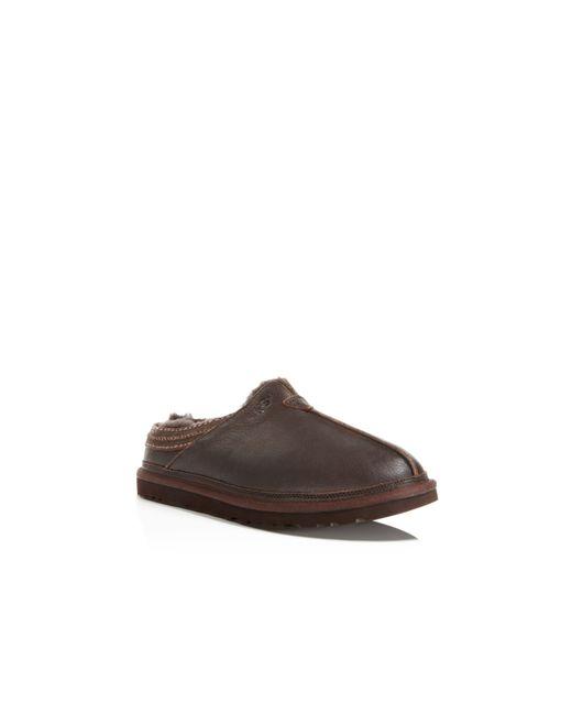 82f6c22c7cc Uggs Neuman Leather Slippers | MIT Hillel