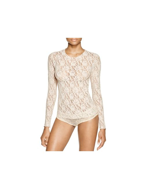 Hanky Panky | White Unlined Long Sleeve Lace Top | Lyst