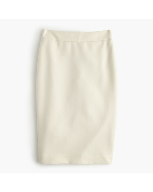J.Crew | Natural Petite No. 2 Pencil Skirt In Double-serge Wool | Lyst