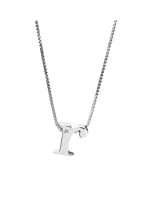 Azendi | Metallic Letter R Sterling Silver Diamond Pendant | Lyst