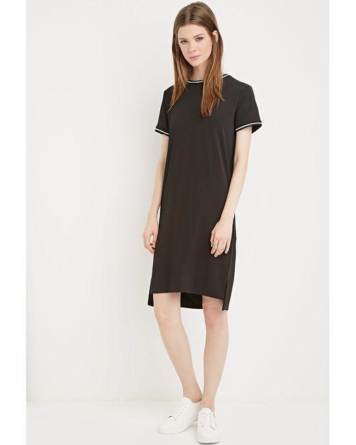 Forever 21   Black Striped-trim Dress   Lyst