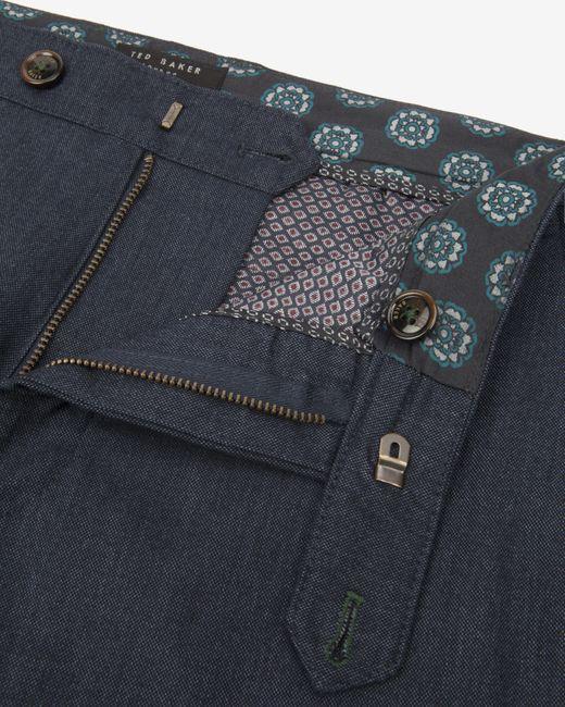 Ted Baker | Blue Brushed Cotton Pants for Men | Lyst