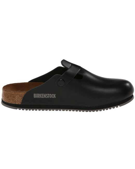 birkenstock boston super grip leather black